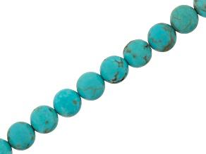 Blue Magnesite 4mm Round Bead Strand Appx 15-16