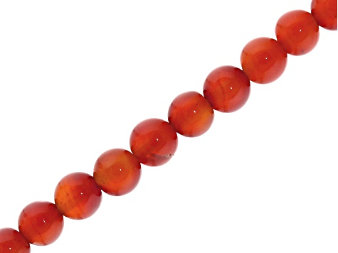 Red Agate 6mm Round Bead Strand Appx 15-16