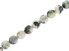 Tree Agate 6mm Round Bead Strand Appx 15-16