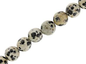 Dalmatian Jasper 6mm Round Bead Strand Appx 15-16
