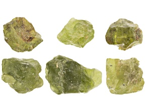 Peridot 6pc Rough Parcel Appx 20 Grams