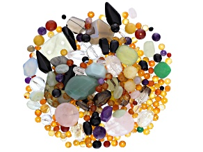 1/2lb Bag Of Mixed Beads in Assorted Shapes, Colors & Sizes