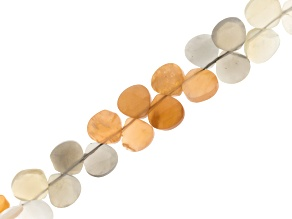 Multicolor Moonstone Appx 7mm Fancy Oval Bead Strand Appx 6-7