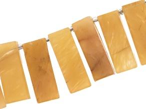 Yellow Aventurine Appx 7-27mm Graduated Stick Bead Strand Appx 8
