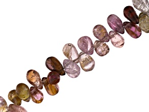 Multicolor Spinel 4x6mm Drop Shape Bead Strand Appx 8