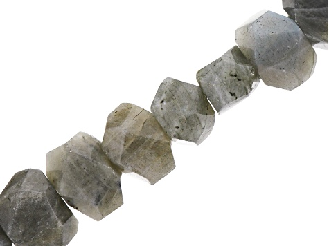 Labradorite Appx 12x15-13x19mm Faceted Nugget Bead Strand Appx 15-16