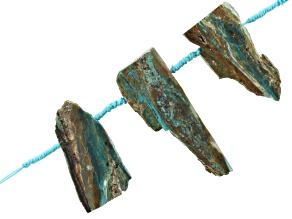 Chrysocolla Chalcedony in Matrix Slabs 3 Piece Set