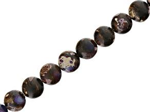 Purple Mardi Gras 8mm Round Bead Strand Appx 15-16