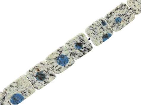 Azurite in Granite Matrix Appx 8x12x14mm Slices Bead Strand Appx 8