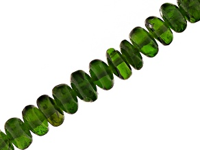 Chrome Diopside Appx 3-5mm Smooth Rondelle Bead Strand Appx 18