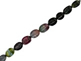 Multicolor Tourmaline Tumbled Beads Appx 6x8mm Strand Appx 14