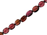 Raspberry Color Rhodolite Garnet Appx 4x5mm - 5x6mm Graduated Tumbled Bead Strand Appx 14