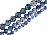 Sodalite Round Bead Strand Set of 3 In appx 6, 8 & 10mm appx 15-16