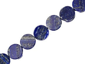 Lapis Lazuli 20mm Coin Shape Bead Strand Appx 15-16