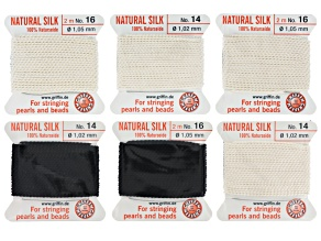 Silk Thread Kit Sizes 14 And 16 in Black And White
