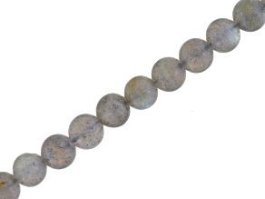 Matte Labradorite 6mm Round Bead Strand Appx 16