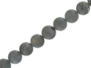 Matte Labradorite 8mm Round Bead Strand Appx 16