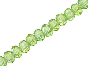 Green Ab Chinese Crystal Glass Appx 3mm Rondelle Bead Strand Appx 15