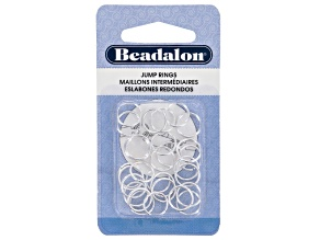 Jump Rings appx 10mm Silver Tone Set of appx 30 Pieces