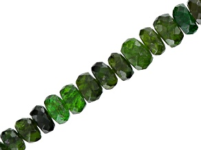 Chrome Tourmaline Appx 4x2-5x2mm Graduated Faceted Rondelle Bead Strand Appx 18""