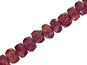 Ruby 2.5-4mm Graduated Faceted Rondelle Bead Strand Appx 18