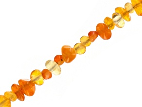 Fire Opal Appx 3-4mm Chip Bead Strand Appx 35-36""