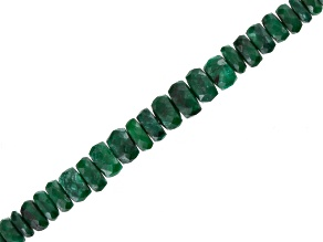 Green Sapphire Appx 3x2-5x3mm Graduated Faceted Rondelle Bead Strand Appx 18