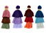 YouTube Only 3-Tier Fringe Tassels in Blue, Purple, Red & Multi Set Of 4