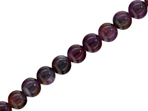 Ruby Appx 5-6mm Round Bead Strand Appx 15-16