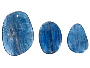Kyanite Freeform Pendant And 2 Cabochons 3pc Total Set