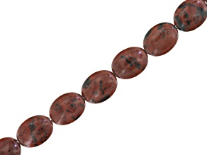 Brown Obsidian Appx 12x16mm Oval Bead Strand Appx 15-16