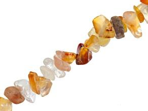 Carnelian & Agate Chip Shape Bead Strand Appx 15-16