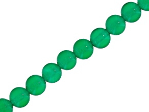 Green Agate 6mm Round Bead Strand Appx 15-16