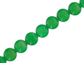 Green Agate appx 10mm Round Bead Strand Appx 15-16