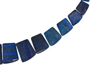 "Lapis Lazuli Appx 18x14mm-30x40mm Graduated Collar Bead Strand Appx 13-14"""