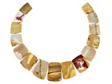 Mookaite Appx 18x14mm-30x40mm Graduated Collar Bead Strand Appx 13-14