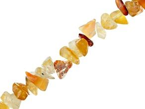 Carnelian Chip Shape Bead Strand Appx 32-34