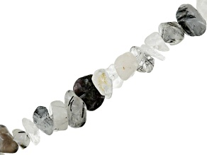 Tourmalinated Quartz Chip Shape Bead Strand Appx 32-34