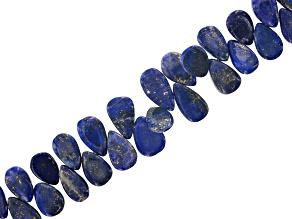 Lapis Lazuli Appx 6x9mm-7x12mm Smooth Pear Shape Bead Strand Appx 8
