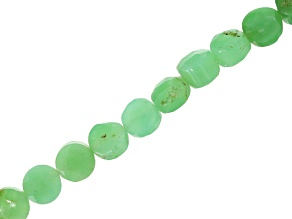 Chrysoprase 4-5mm Faceted Coin Shape Bead Strand Appx 14-15