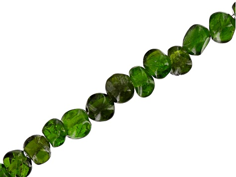 Chrome Diopside Appx 4-7mm Nugget Shape Bead Strand Appx 15-16""