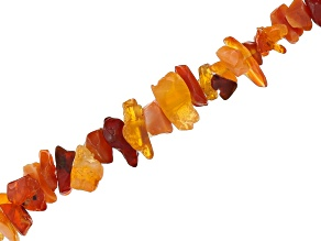Fire Opal Chip Strand Appx 34