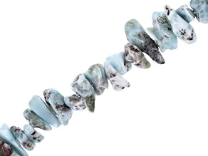 Larimar Nugget Shape Bead Strand Appx 15-16