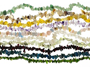 Chip Strand Appx. 4-10mm Set of 10 Includes Assorted Stones Appx 33-34