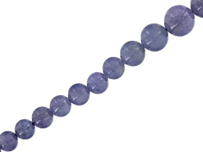 Tanzanite Appx 4mm-10mm Graduated Round Bead Strand Appx 15-16