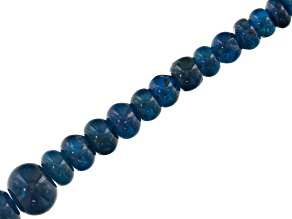 Neon apatite appx 4-12mm graduated rondelle bead strand appx 15-16