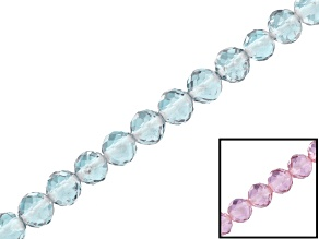 Color-change synthetic zandrite appx 4mm faceted round bead strand appx 16