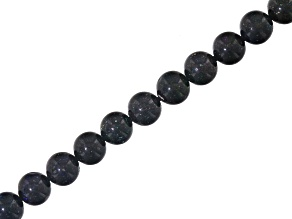 Honduran Black Opal appx 5.75mm Round bead strand appx 85 ctw