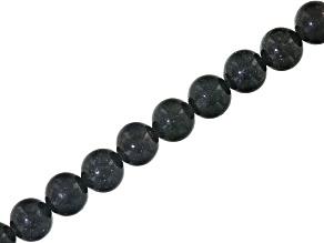 Honduran Black Opal appx 7.75mm Round bead strand appx 137 ctw