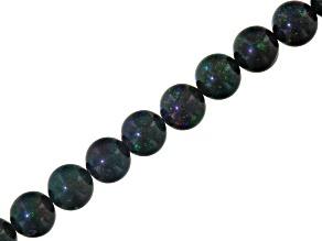 Honduran Black Opal appx 11.7mm Round bead strand appx 311 ctw